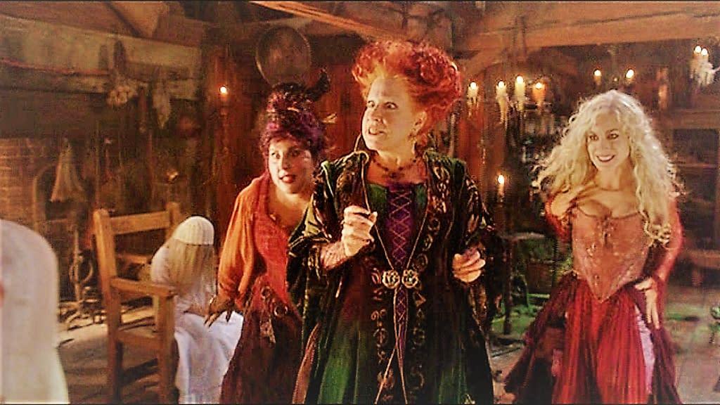 Kathy Najimy, Bette Midler, and Sarah Jessica Parker in Hocus Pocus